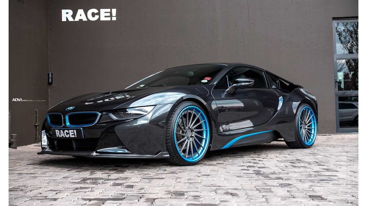 Bmw I8 Custom Wheels Blue Lips Electric Car Rims J