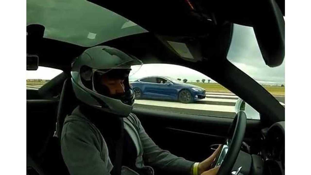 Watch Tesla Model S P100D Race Porsche 911 Turbo S In 1/2-Mile