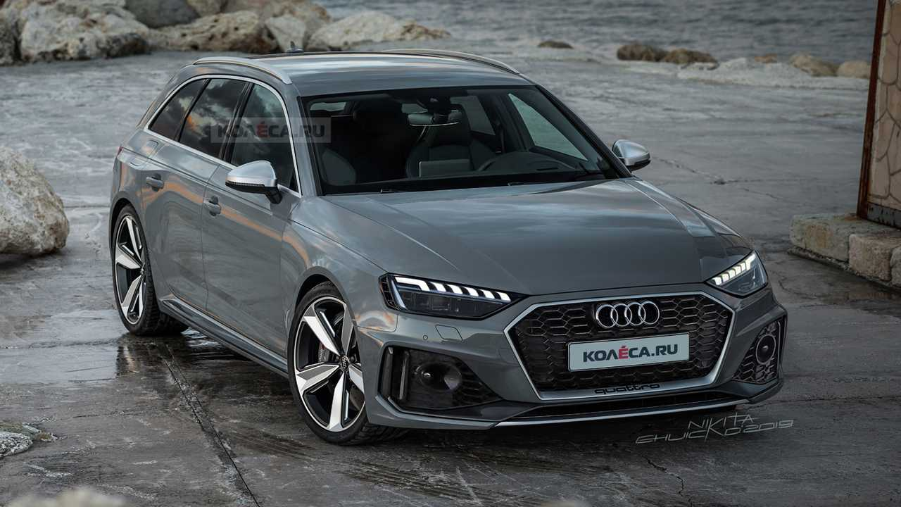 2020 audi rs4 avant realistically rendered