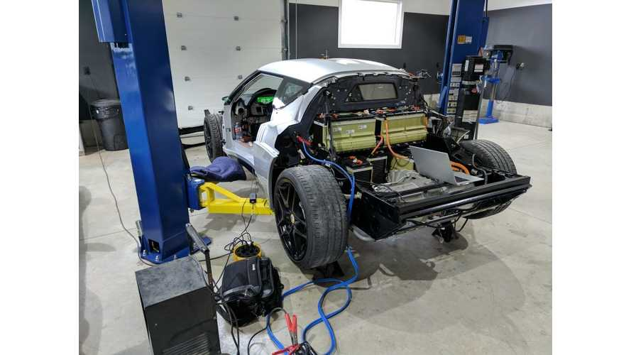 "Tesla Drive Unit Puts Out 440hp in Lotus Evora ""Blue Lightning"" Project - Video"