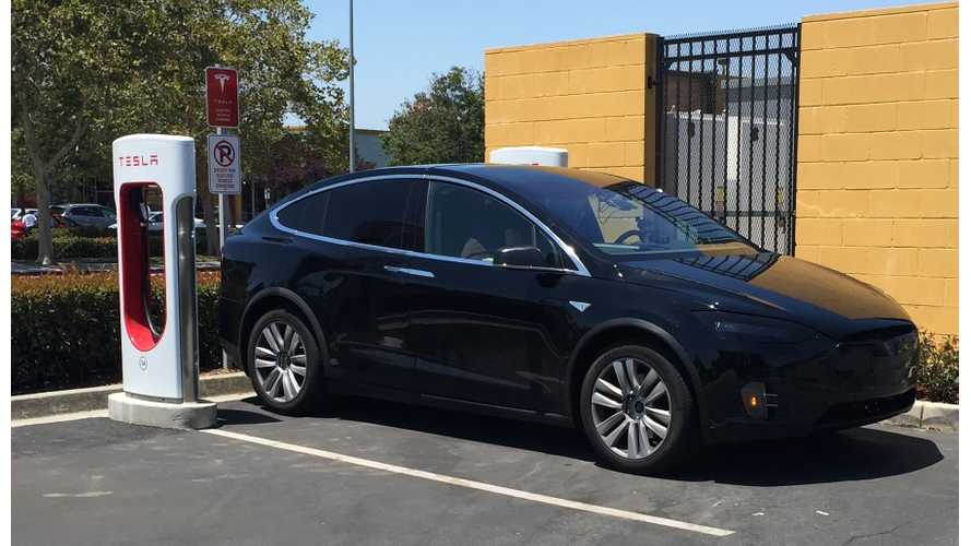 Tesla Model X Spotted At Gilroy Supercharger - High-Res Images
