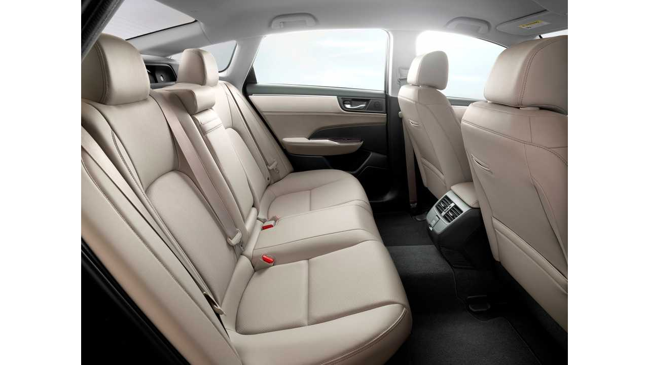 Lots of room in the back of the 2018 Honda Clarity Plug-In Hybrid