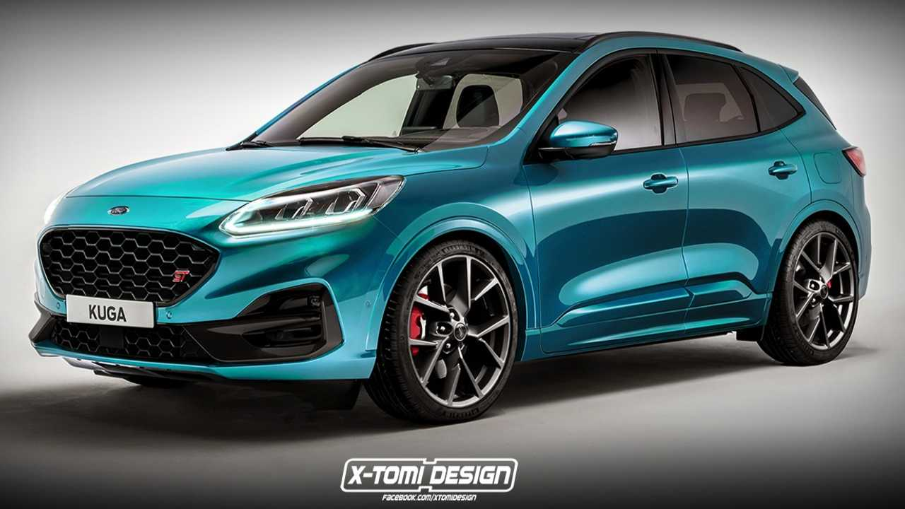 ford kuga st rendering zeigt moegliches performance suv