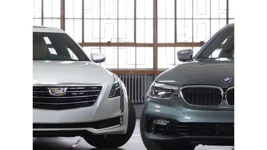 BMW 530e Versus Cadillac CT6 - Plug-In Hybrid Comparo