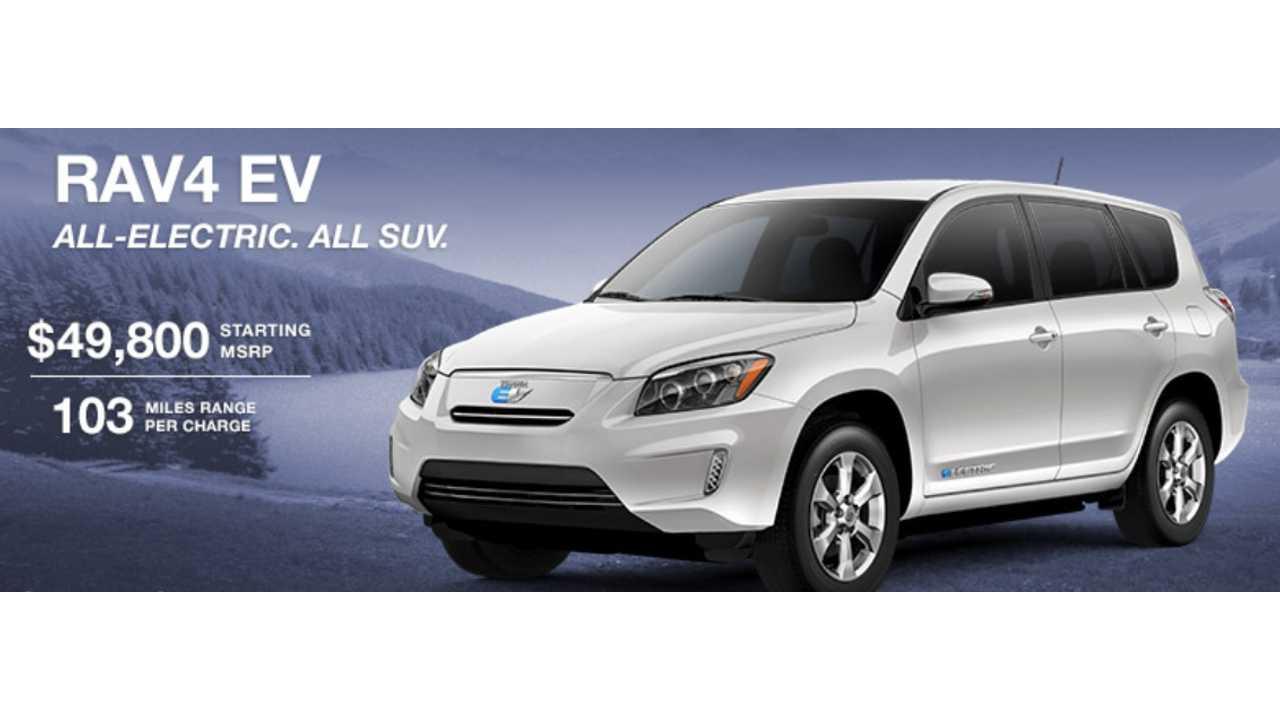 Toyota RAV4 EV Was Priced At $49,800. Although Few Were Sold Near That MSRP - Discounts Of More Than $10,000 We Not Uncommon