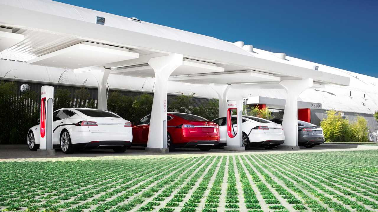 The Model 3 has access to Tesla's vast network of Superchargers.