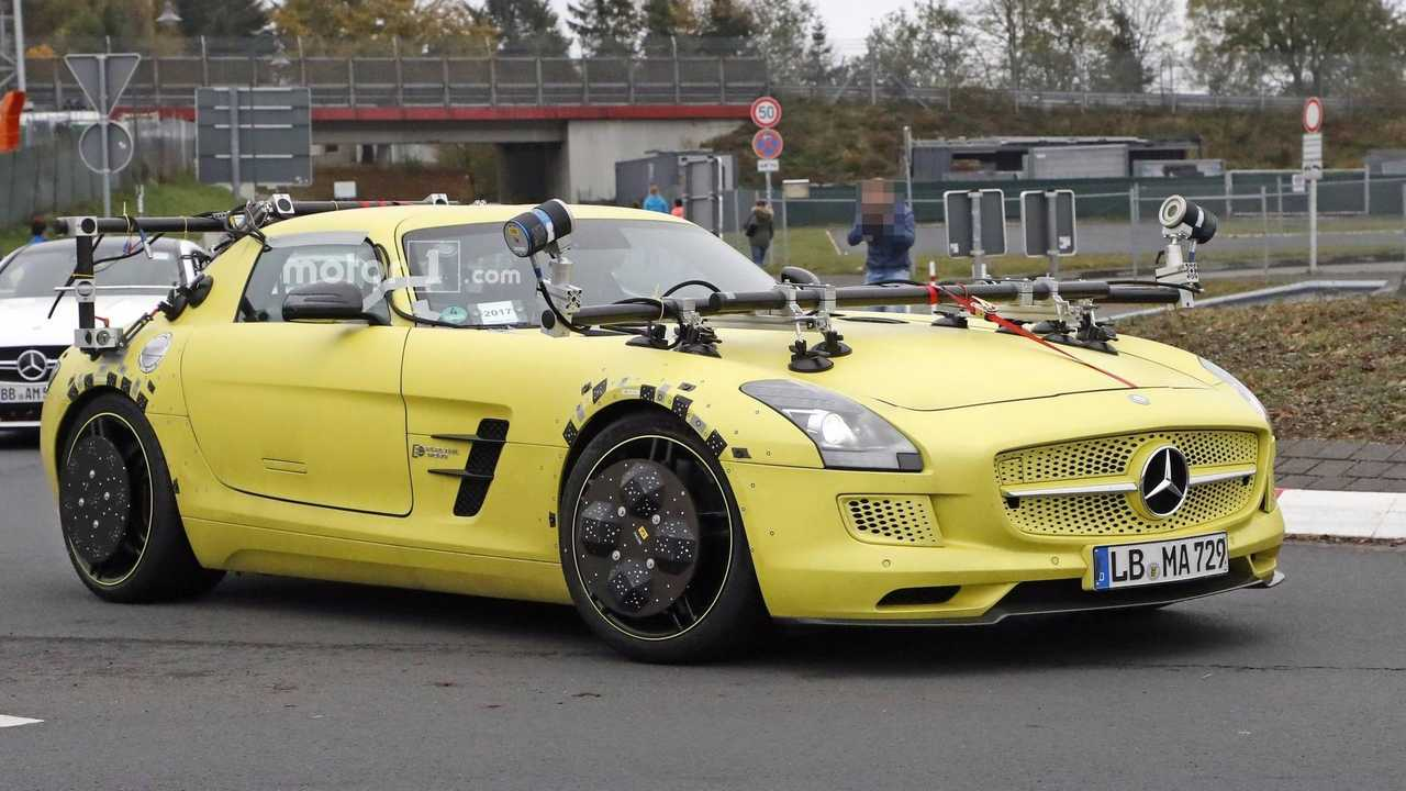 Mercedes Spotted Testing SLS AMG Electric Drive, But Why?
