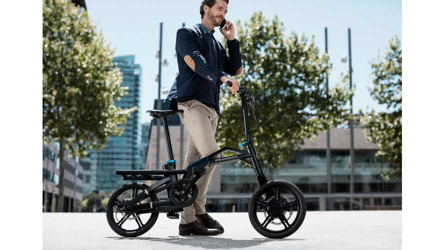 Peugeot Presents Electrically-Assisted Folding eF01 e-Bike