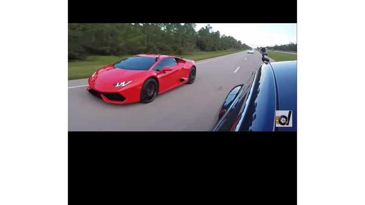 Tesla Model S P100DL VS Lamborghini Huracan LP610-4 (video)
