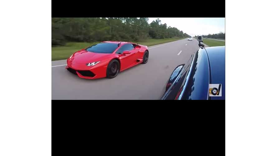 Tesla Model S P100DL VS Lamborghini Huracan LP610-4 (video)