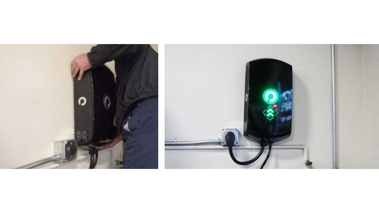 "Control panel installation is as simple as hanging it on the wall and connecting to a 240V, or ""Level 2"" outlet. This is the same type of outlet as the one used by an electric dryer."