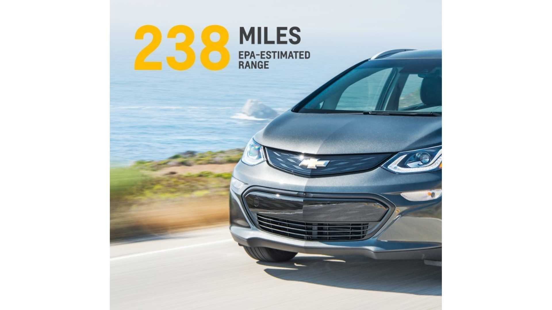Chevrolet Bolt Ev Rated 238 Miles Of All Electric Range Arrives This Year