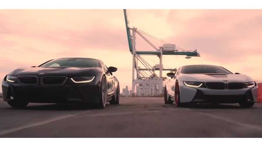 BMW i8 Duo Takes Over Port Of Miami - Video