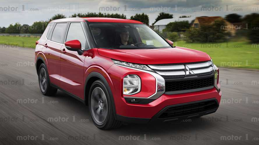 Mitsubishi Outlander renderings show off bold design choices