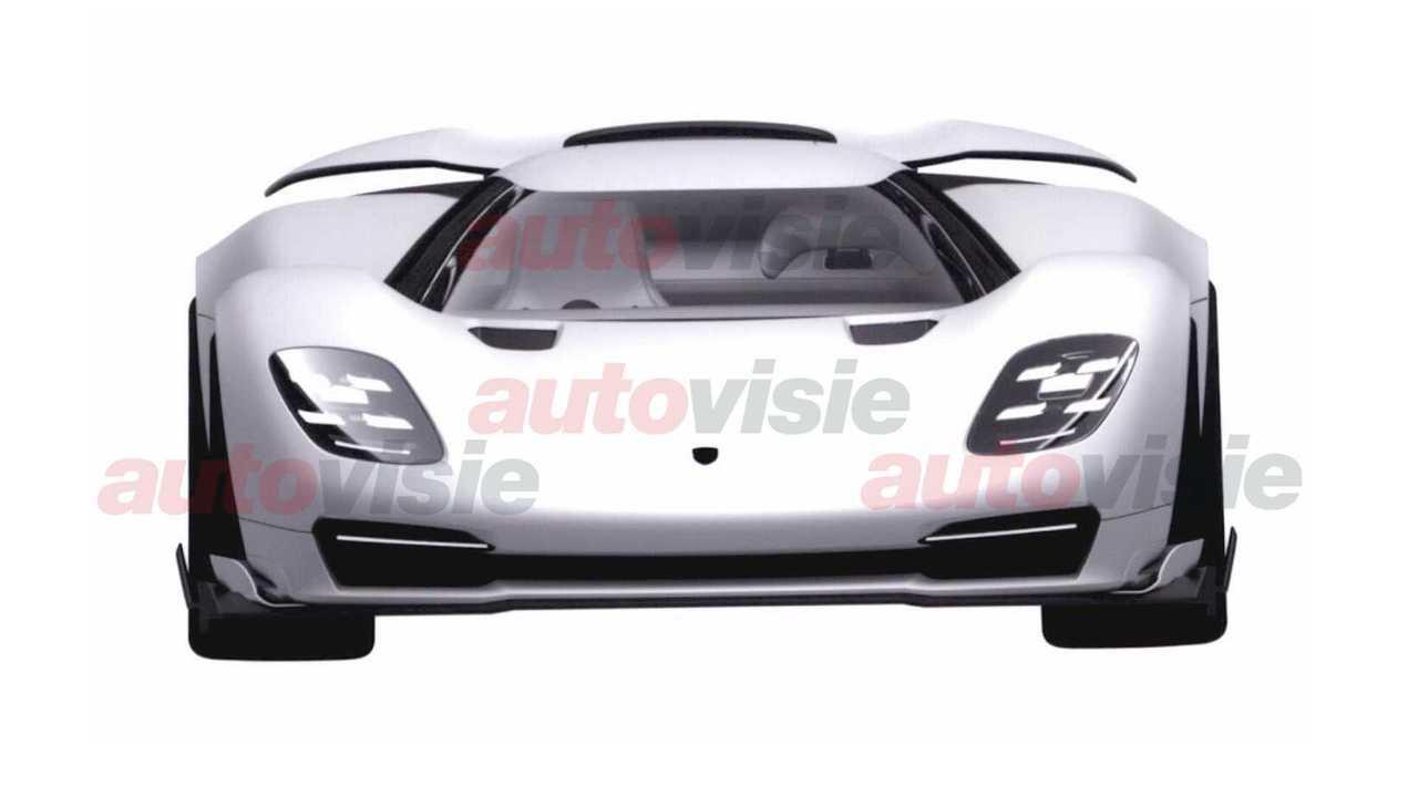 Патентные изображения возможного преемника Porsche 918 Spyder