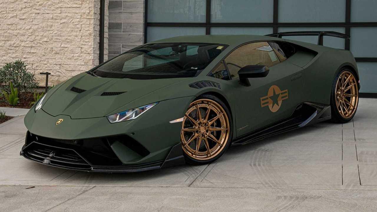 Tuned Lamborghini Huracán Performante Looks Ready For Army Duty
