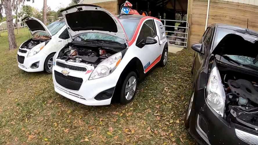 Domino's Pizza DXP, Chevrolet Spark EV Powertrain Swap Begins