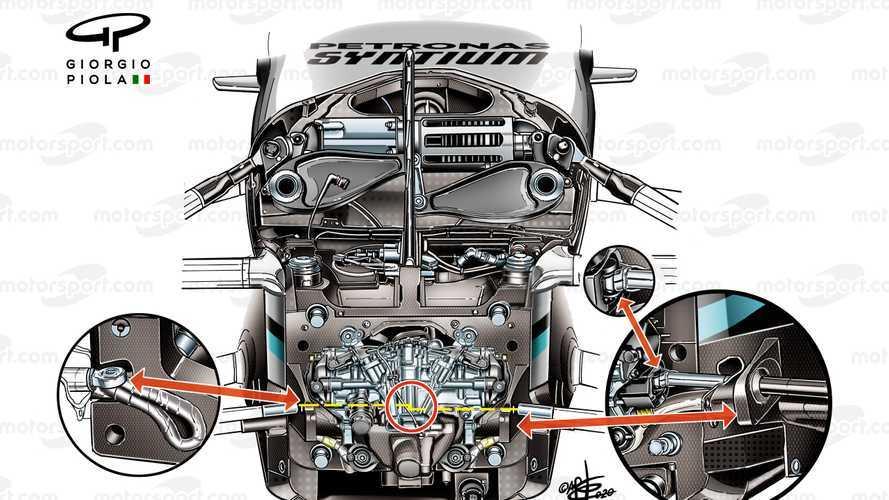 F1, Mercedes W11: ecco com'è il sistema Ackermann variabile