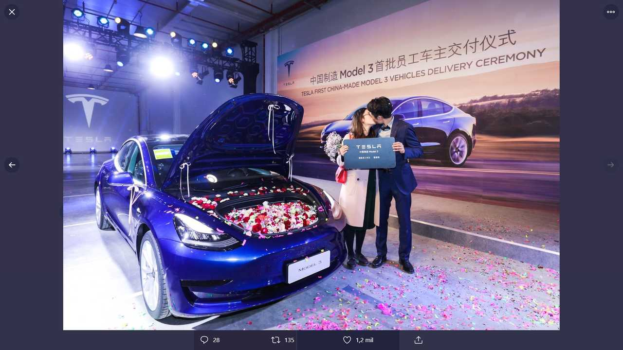 Tesla Model 3 Deliveries In China Start With Wedding Proposal