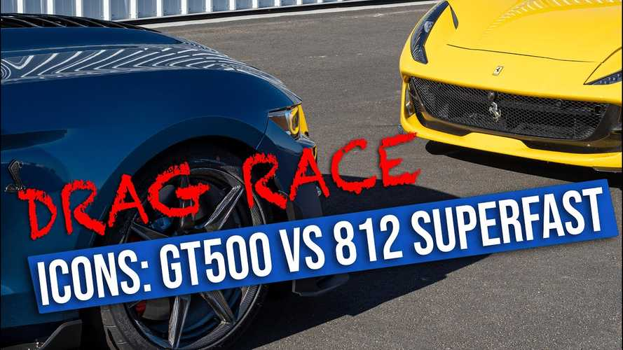 Shelby GT500 Faces Ferrari 812 Superfast In A Drag Race