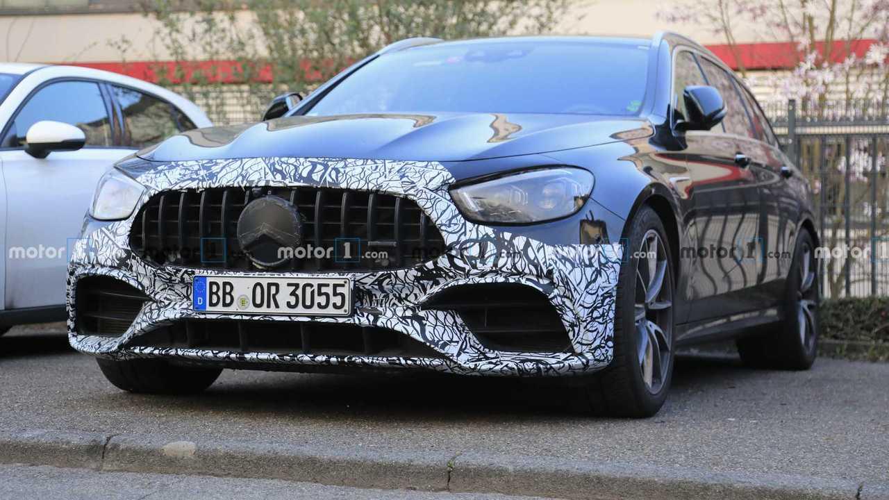 2021 Mercedes-AMG E63 Wagon facelift spy photo