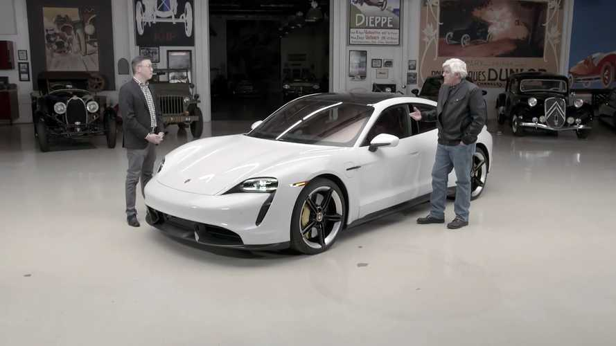 Watch Jay Leno's Porsche Taycan Turbo S Review
