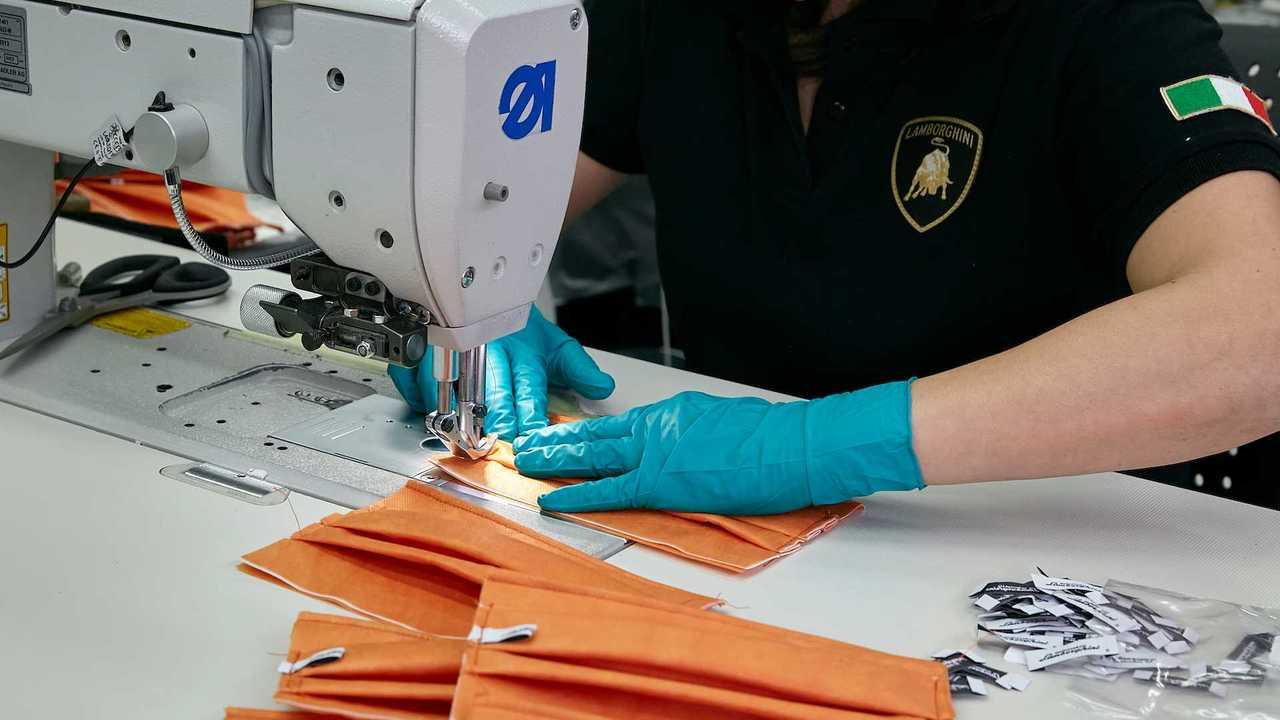 Lamborghini's Production Of Face Masks And Shields