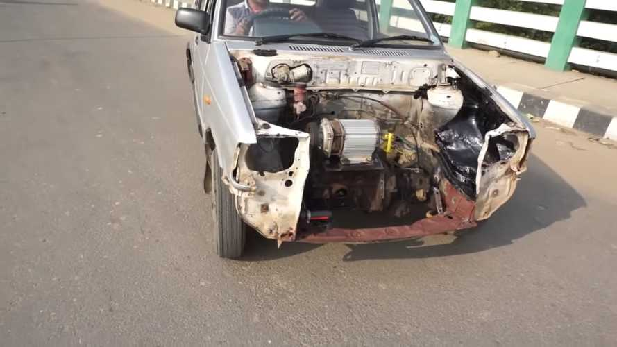 How A Maruti 800 And 3 Electric Components Made The Cheapest EV Conversion Ever