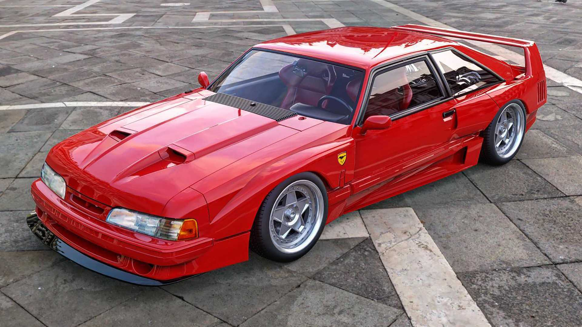 Mustang-Ferrari Mashup is the Fox Body F40 You've Always Wanted