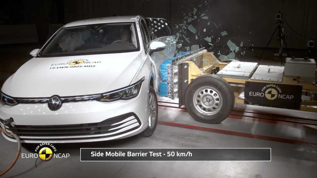 VW Golf 2020 crash test pelo Euro NCAP