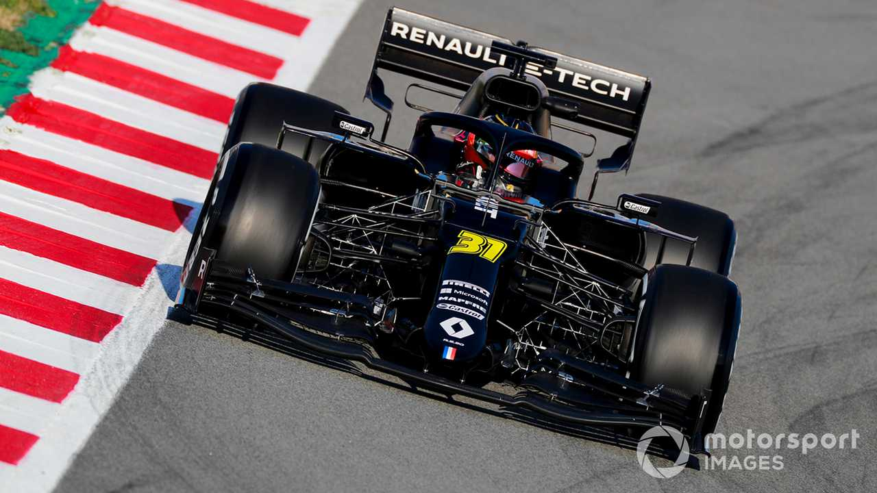 Esteban Ocon in Renault R.S.20 at Barcelona Feb testing 2020