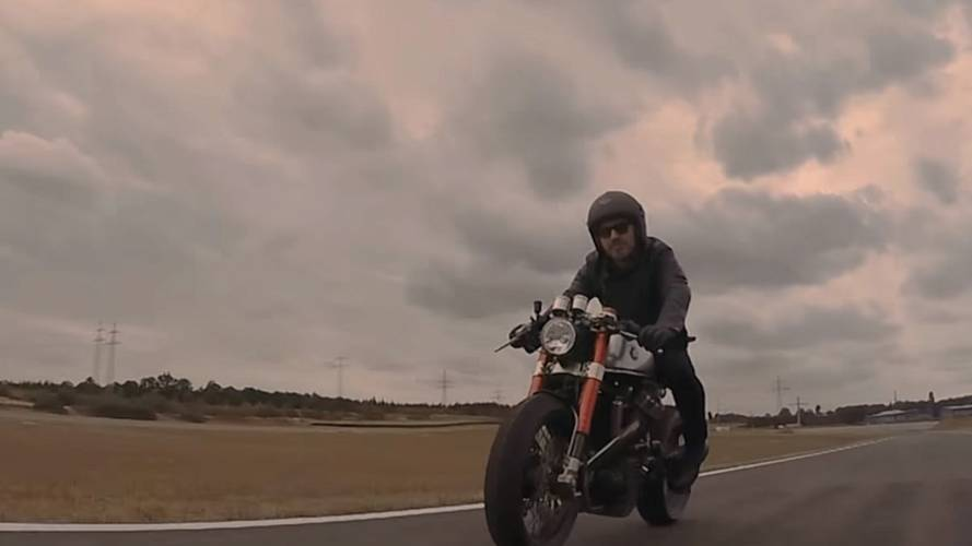 Watch Sacha Lakic's Custom Honda CX500 Cafe Racer In Action - Video