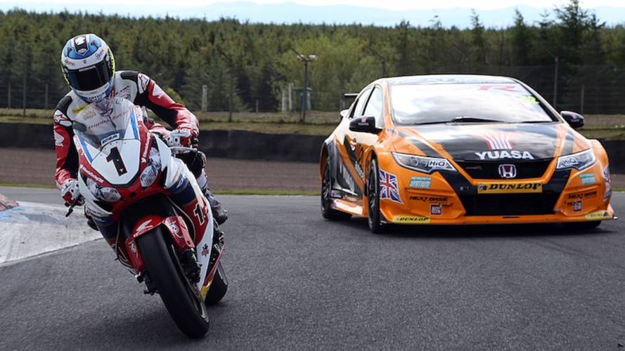 John McGuinness vs. Gordon Shedden: Car vs. Motorcycle