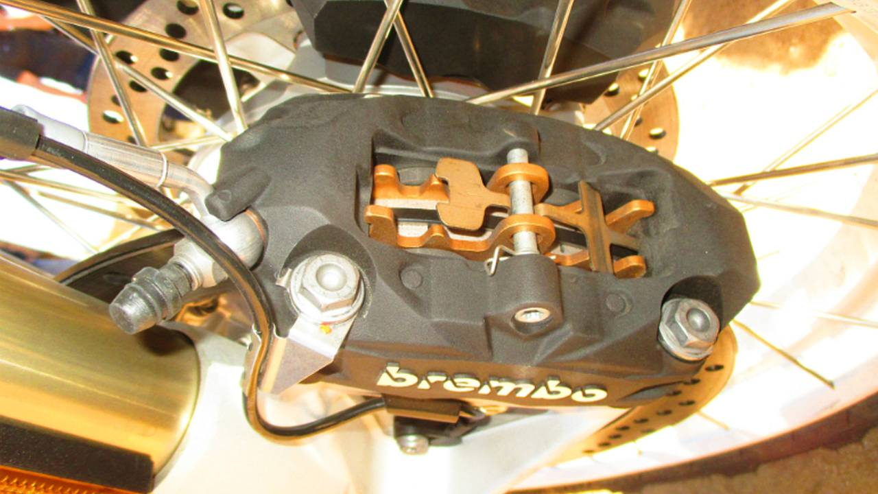 Some pads can be accessed without removing calipers.