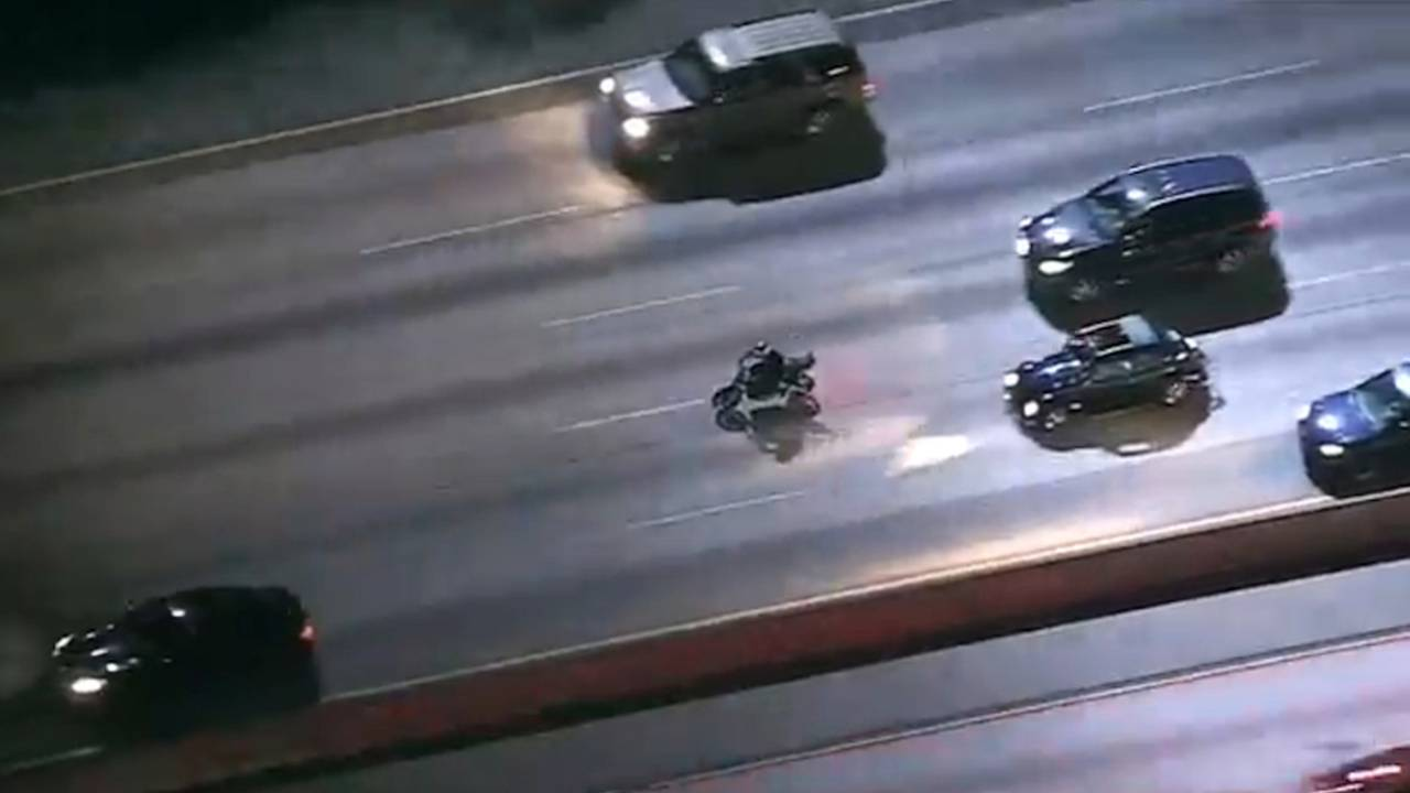 Video: California Motorcycle Chase Ends In Arrest