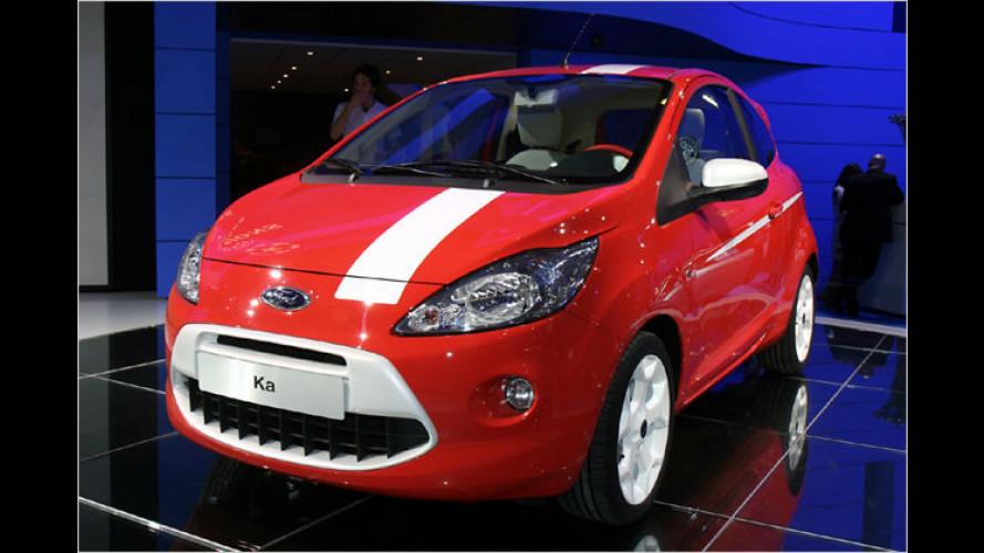 Individuelle, farbenfrohe Sonderausstattungen für Ford Ka