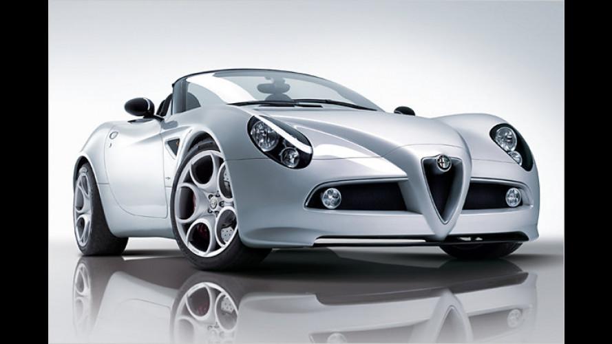 Alfa 8c Spider feiert auf dem Auto Salon in Genf Weltpremiere
