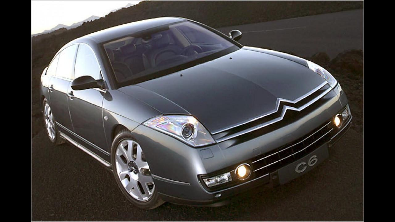 2006 kam die Göttin zurück auf die Erde: Der Citroën C6 präsentiert französisches Oberklasse-Fahren
