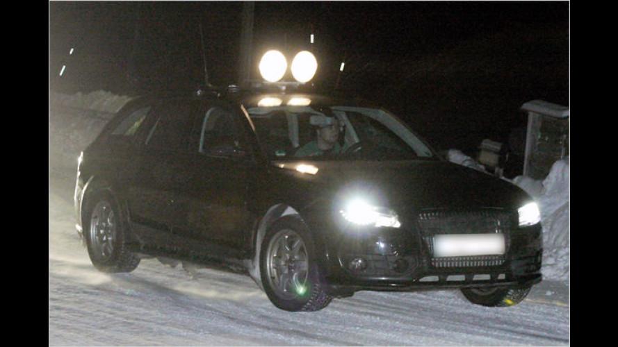 Spion in der Kälte: Audi A4 allroad im Norden erwischt