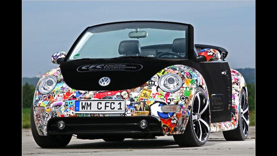 Aufkleber-Bombardement: VW New Beetle von CFC