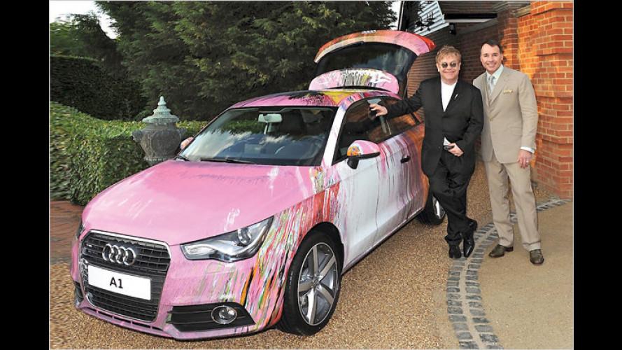 Britischer Künstler Damien Hirst gestaltet den Audi A1 um