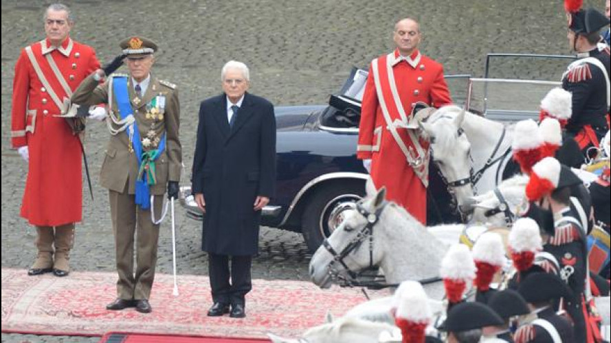 Presidente Mattarella, la Lancia Flaminia e tutte le auto blu del Quirinale