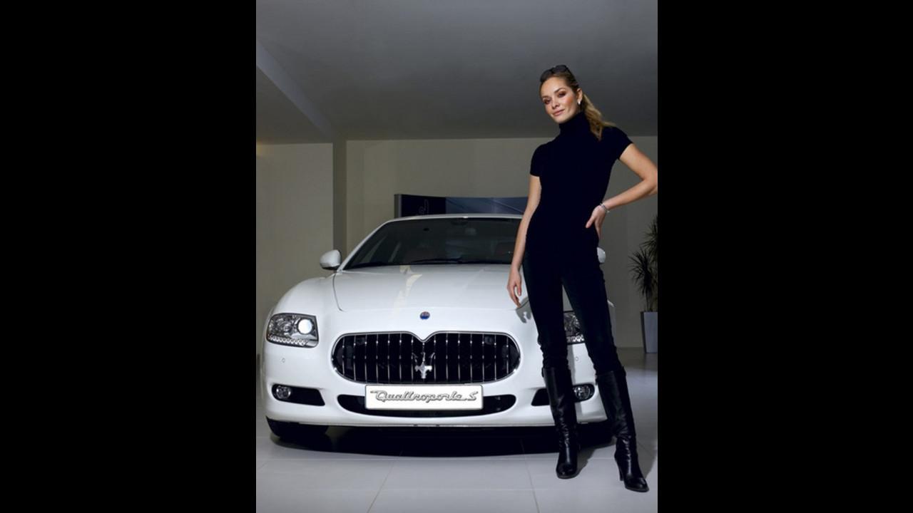 Tatana Kucharova scegli la Maserati Quattroporte