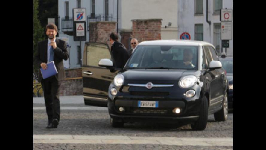 Fiat 500L, un giorno da auto blu del Ministro Franceschini