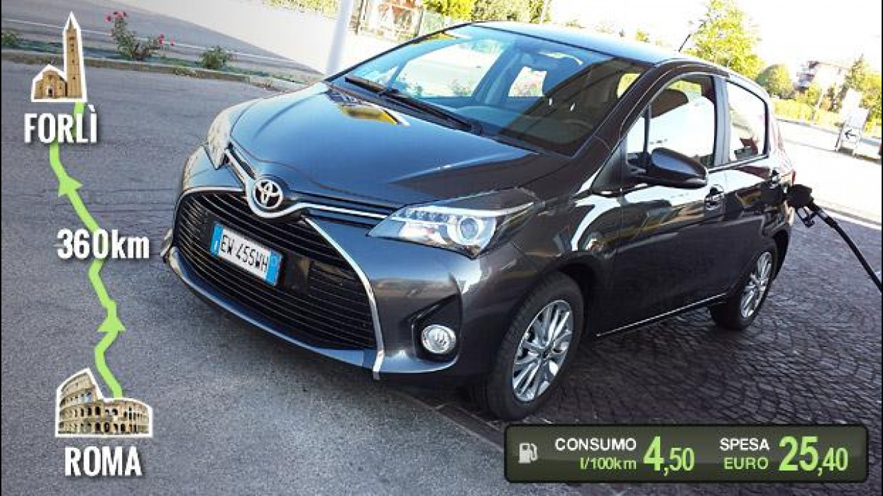 [Copertina] - Toyota Yaris 1.0, la prova dei consumi reali