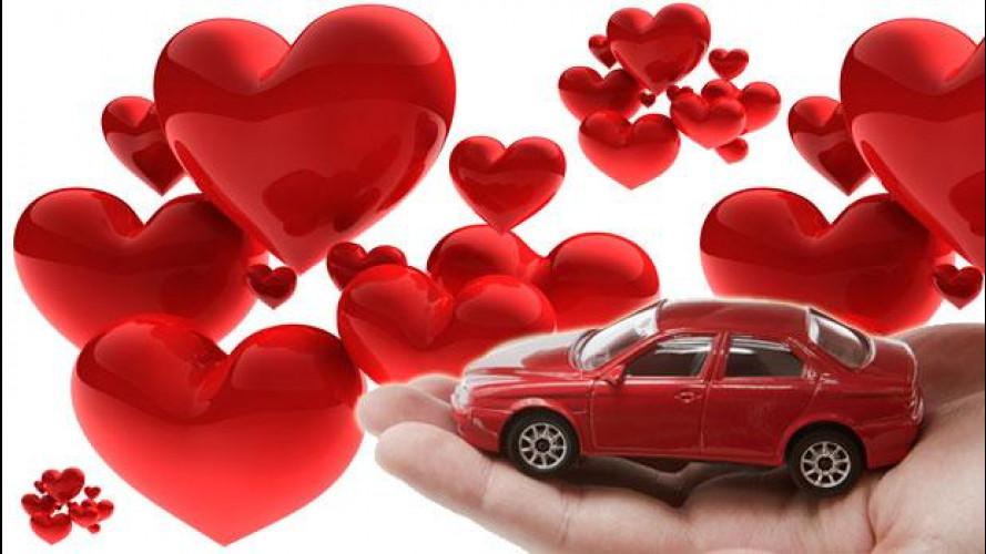 A San Valentino anche l'auto fa la sua parte