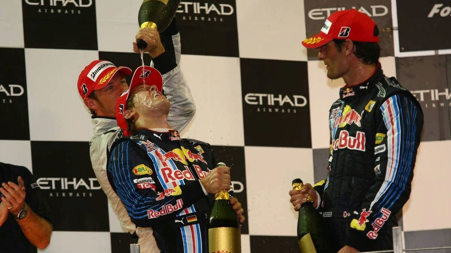 Tyre smoke, not alcohol, as Sebastian Vettel wins in Abu Dhabi - results