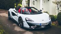 McLaren 570S Spider In Muriwai White