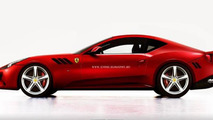 Ferrari FF fastback coupe render 18.10.2013