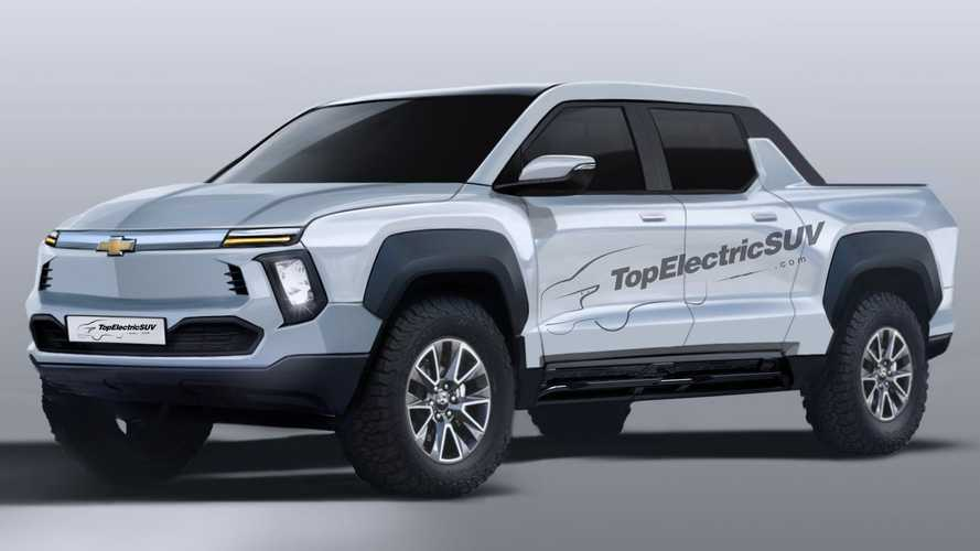 Chevrolet Electric Pickup Truck Rendered Based On Teasers